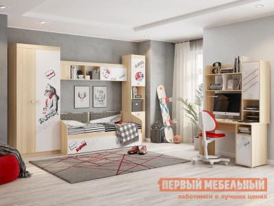 Комплект детской мебели  Энерджи К1 Дуб сонома / Белый МебельСон. Цвет: белый