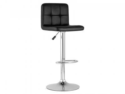 Барный стул  Малави LITE Черный, экокожа / Хром Stool Group. Цвет: черный