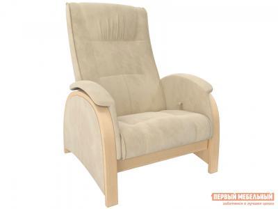 Кресло-качалка  Кресло-глайдер BALANCE 2 Натуральное дерево, шпон, Verona Vanilla, велюр Мебель Импэкс. Цвет: бежевый