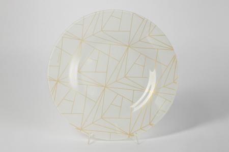 Тарелка Линеа Pasabahce. Цвет: белый, золотой