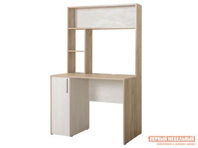Компьютерный стол  Комфорт 12.72 Дуб серый / Шелковый камень Моби. Цвет: бежевый