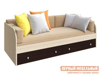 Детская кровать  ODNOYAR Дуб Молочный / Венге РВ Мебель. Цвет: темное-cветлое дерево