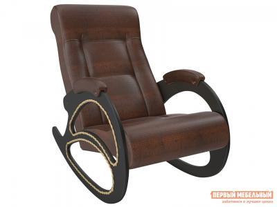 Кресло-качалка  Матера Венге, Antic Crocodile, иск. кожа Мебель Импэкс. Цвет: коричневый