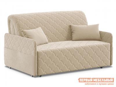 Прямой диван  Тино / Люкс Бежевый, велюр, 140х200 см, Независимый пружинный блок Живые диваны. Цвет: бежевый