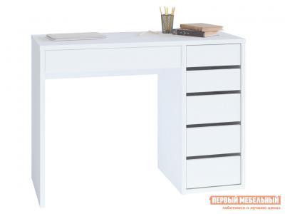 Письменный стол  СПм-10 Белый, Правый Тайга. Цвет: белый