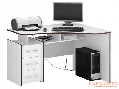Компьютерный стол  Триан-5 Белый, Правый МФ Мастер. Цвет: белый