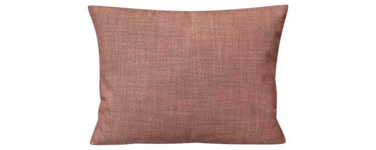 Декоративная подушка Портленд 60х48 см Nobilia розовый (Рогожка) HomeMe. Цвет: розовый