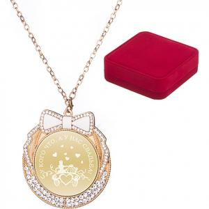 Медаль У кого что, а нас свадьба (7 см) Arti-M. Цвет: золотистый, красный