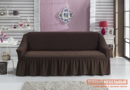 Чехол для мебели  дивана Стамбул трехместный Коричневый KARNA. Цвет: коричневый