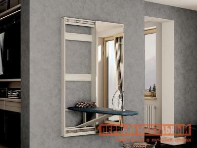 Гладильная доска  доска-купе Таймс Лоредо, С зеркалом BTS. Цвет: светлое дерево