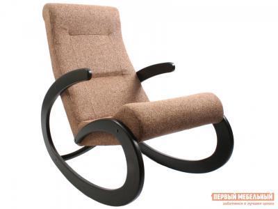 Кресло-качалка  Кресло-качалка, модель 1 (013.001) Венге, Malta 17А, рогожка Мебель Импэкс. Цвет: венге