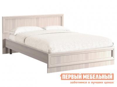 Двуспальная кровать  Аврора с основанием и ножками Ясень Анкор светлый, 1600 Х 2000 мм Моби. Цвет: светлое дерево