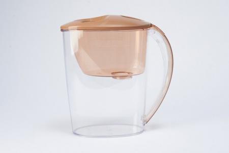 Фильтр-кувшин для очистки воды 2,5 л Тренд Hoff. Цвет: карамельный капучино