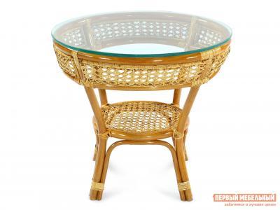 Плетеный стол  кофейный JAVA 27/22 Коньяк ЭкоДизайн. Цвет: коричневый