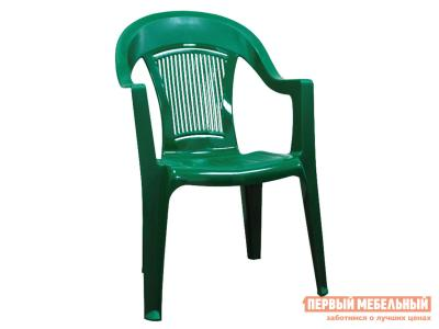 Пластиковый стул  Фламинго Темно-зеленый, пластик Элластик Пласт. Цвет: зеленый