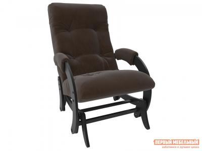 Кресло-качалка  глайдер Комфорт Модель 68 Венге, Verona Brown, велюр Мебель Импэкс. Цвет: венге